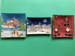 Bandejas Navidad (15 x 15 cm y 15,5 x 10,5 cm) 3,50€