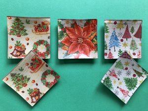 Bandejas Navidad (9,5 x 9,5cm) 2,50€