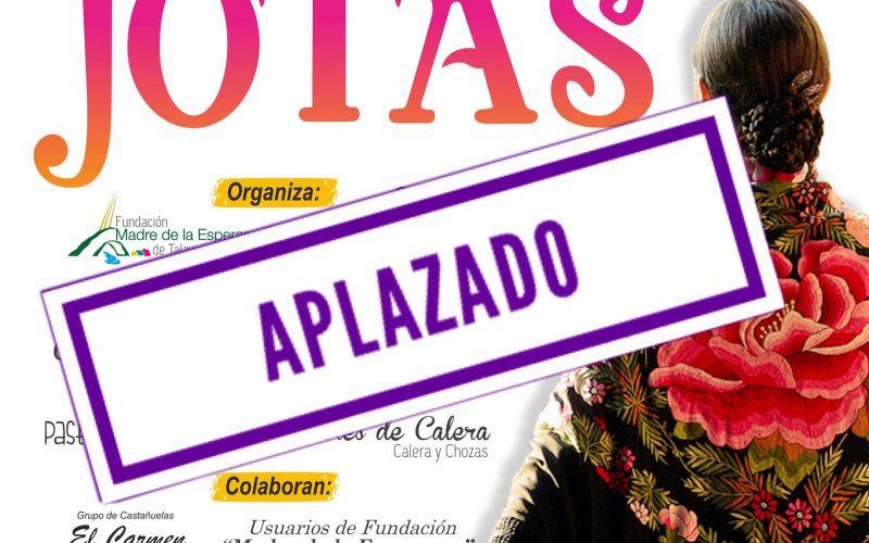 Cartel de aplazamiento del Festival Folclórico Jotas